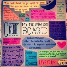 Motivation board #diy #fitness #motivation