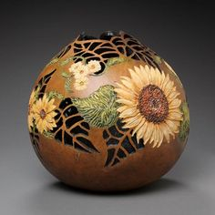 gourd carving patterns | Amazing Gourd Carving Art by Marilyn Sunderland – DesignSwan.com