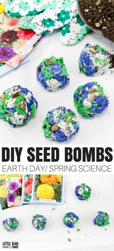 Kick off your spring science with an Earth Day activity and make seed bombs with your kids! Super easy and fun to make, start a new tradition this Earth Day and learn how to make homemade seed bombs. A flower seed bomb is a fun DIY gift! Use this seed bomb recipe and make them for mom for Mother's Day too!