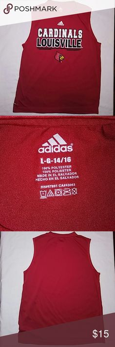Youth Large 14/16 Louisville Cardinals Tank Adidas Excellent condition new without tags. Vibrant red very very nice top. Adidas Shirts & Tops Tank Tops