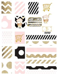 Wink+Pink Planner Set Planner Stickers Kikki K Filofax Kate Spade