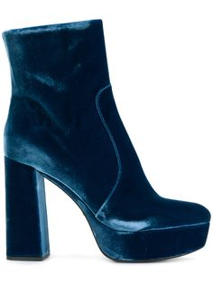 Are you ready, boots? Shop designer boots for women at Farfetch and find everything from biker to hiking, thigh-high to Chelsea by your favorite brands. Blue Ankle Boots, Velvet Ankle Boots, Block Heel Ankle Boots, Platform Ankle Boots, Ankle Booties, Block Heels, Bootie Boots, Prada Shoes, Shoe Closet