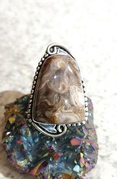 Rockchalce Ring, Size 9 by KarinsForgottenTreas on Etsy