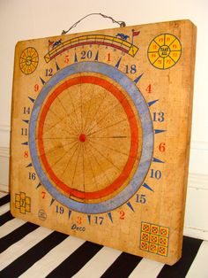 Gorgeous Vintage Solid Wood Dart Board Eclectic Wall Decor by studio180, SOLD Great for Boho Nursery