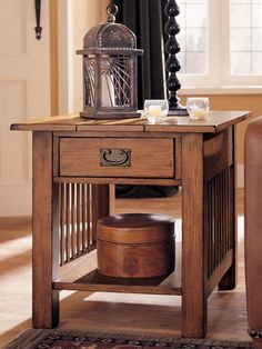 Hammary Canyon Rectangular Drawer End Table In Mission Oak     Lowest Price  Online On All Hammary Canyon Rectangular Drawer End Table In Mission Oak