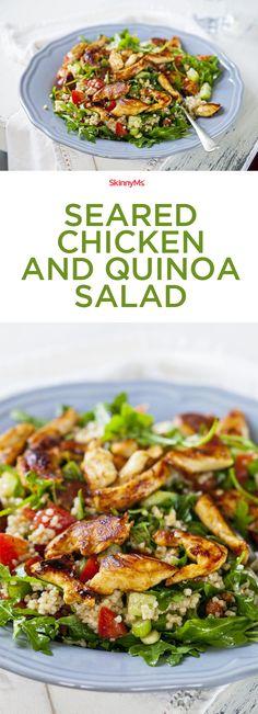 Seared Chicken and Quinoa Salad! #chicken #quinoa