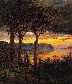 Jasper Francis Cropsey - Palisades Opposite Hastings-on-Hudson,1887