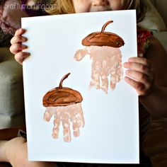 handprint acorn craft for kids