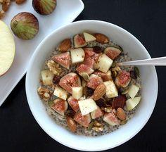 Bircher Muesli with Chia Seeds, Figs & Apples - The Simple Veganista
