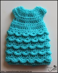 Good Morning everyone,     Today's pattern is a little gown with a soft shell stitch ruffle on the skirt. Very simple to do but the en...