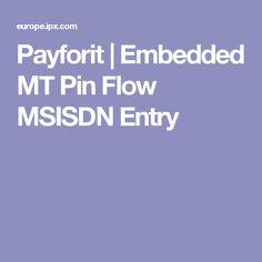 Payforit | Embedded MT Pin Flow MSISDN Entry