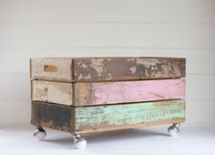 Father Rabbit: Box on Casters   Pastel