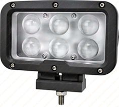 """R2D2"" Work, Spot, Flood Light LED 60W  Operating Voltage: 9-60V DC  Waterproof rating: IP 67  6*10w high intensity Cree LEDs  Luminous Flux 5100lm  Color Temperature: 6500K  Material: Die cast aluminum housing  Lens material: PC  Mounting Bracket: Stainless Steel  Optional Beam: 60 or 30 degree  Expected Life 50000+ hours  Certificates: CE RoHs"