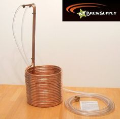 """Super Efficient 3/8"""" x 50' Copper Wort Chiller by NY Brew Supply"""