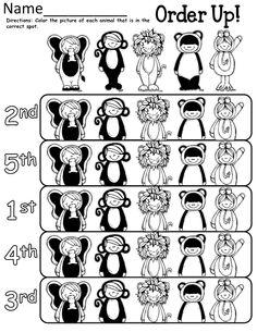 Ordinal Numbers-Kindergarten Review