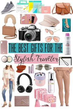 The Ultimate Gift Guide for the Stylish Traveler - From the best accessories to luggage with beauty products that are great for on-the-go, this gift guide covers everything any stylish traveler would love to get as a gift! Best Travel Gifts, Best Gifts, Travel Must Haves, Travel Style, Travel Fashion, Vacation Style, Travel Gadgets, Travel Items, International Travel Tips