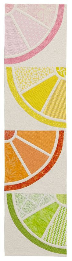 Piece N Quilt: Citrus Squeeze - Custom Machine Quilting by Natalia Bonner