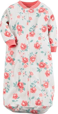 """Carter's Baby Girls' """"Roses so Sweet"""" Fleece Sleep Bag  Carter's Baby Girls' """"Roses so Sweet"""" Fleece Sleep Bag Carter's offers cute and comfortable clothing with soft, durable fabrics! Long sleeve sleeper gown features a floral print, closed bottom for cozy warmth, and a full zip closure for quick and easy changes. Cotton.  http://www.allsleepwear.com/carters-baby-girls-roses-so-sweet-fleece-sleep-bag/"""