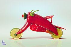 Dan Cretu's Food Sculptures