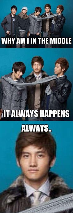 hahaha! Changmin, always in the middle of YunJae! he looks so unimpressed