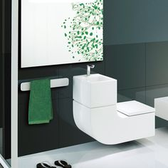 Amazing toilet and basin combo! Saves space and the grey water from the basin is used to flush the toilet! Now that is what I call clever. Cloakroom Toilet Downstairs Loo, Upstairs Bathrooms, Cool Toilets, Cloakroom Suites, Toilet Sink, Small Toilet, Amazing Spaces, Wet Rooms, Bathroom Interior