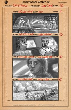 "My latest storyboard work for a client in Texas. For a short film ""The Example"" based on true events."