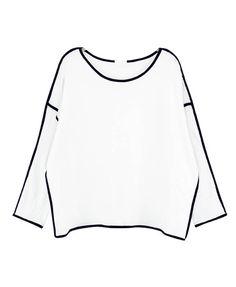 Contrast Color Loose Fit Sweatshirt