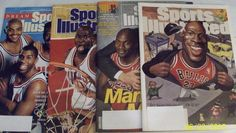 4 Sports Illustrated Michael Jordan Dream Team, Air Power, Sox, Middle Weekly En