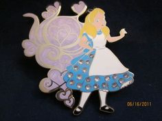 Disney Jeweled Pave Crystal  Alice in Wonderland Alice Pin LE 300