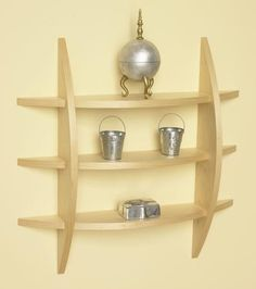 Easy Woodworking Projects Quick-to-make contemporary wall shelf Woodworking Plan from WOOD Magazine - A great way to use plywood scraps, And, we'll cover in detail how to disguise those plies with edge banding. Featured in WOOD Issue December/January Small Woodworking Projects, Small Wood Projects, Popular Woodworking, Woodworking Furniture, Diy Woodworking, Wood Furniture, Woodworking Classes, Woodworking Workshop, Woodworking Machinery