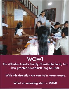 Another Grant! We are so grateful to the Allinder-Anestis Family Charitable Fund, Inc. for supporting our work in Baby Shower Hostess Gifts, Baby Shower Favors, Mother And Baby, Simple Gifts, Save Life, Laos, Birth, Nurses, Health
