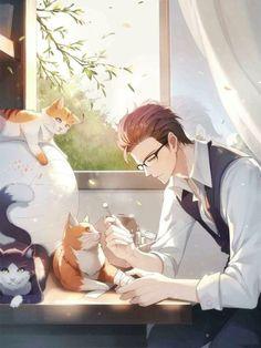 Hot Anime Anime Boysss – Animefang - Visit the post for more. Anime Boy Art, Manga Anime, Anime Cat, Hot Anime Boy, Manga Boy, Anime Demon, Kawaii Anime, Anime Girls, Cool Anime Guys