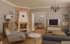 klasyka stylu prowansalskiego/shabby chic - zdjęcie od Archomega Biuro Architektoniczne - Salon - Styl Prowansalski - Archomega Biuro Architektoniczne