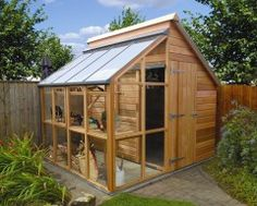 Garden Sheds And Greenhouse Combinations garden potting shed - modern - sheds - other metro - greenhouse