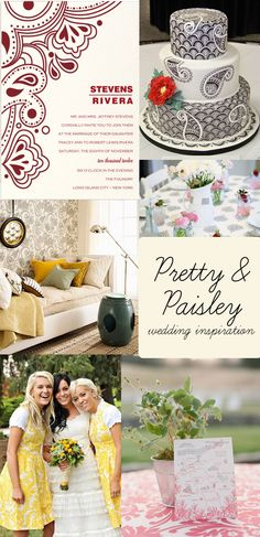 paisley theme wedding | pretty and paisley Pretty & Paisley {Wedding Inspiration}