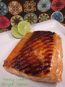 Honey Lime Glazed Salmon - Sweet Treat Eats