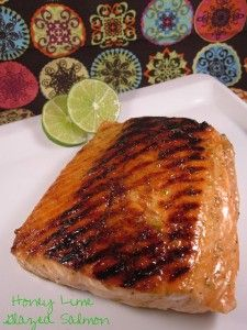 Honey Lime Glazed Salmon - Sweet Treat Eats