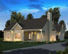 Small But Feels Large - 57313HA | Cottage, Country, Ranch, Narrow Lot, 1st Floor Master Suite, CAD Available, PDF | Architectural Designs