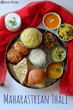 Desi Fiesta : Maharastrian Thali  Marathi Thali