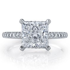Brides Magazine: Jean Dousset Diamonds :  RIVIERA Princess Cut : Engagement Rings Gallery