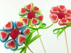 Flores de gominolas corazó