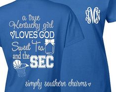 Personalized Kentucky Shirt. (1) University of Kentucky Basketball Tshirt. Kentucky Wildcats Shirt. SEC Shirt. Monogram Gift. Monogram Shirt