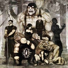 Full Metal Alchemist - Homunculus- Greed, Envy, Gluttony, Lust, Wrath, Sloth, and Pride