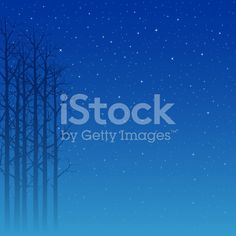 Trees And Stars Background royalty-free stock vector art