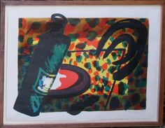 Alan Cox - Kiss Whiskey  Lithograph 1989 available from www.retrosixty.co.uk  #modernbritish #art