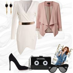 smart casual by trendexplorer-736 on Polyvore featuring мода, Gianvito Rossi, Chanel, Ela Stone and Linda Farrow