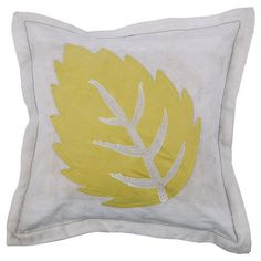I+pinned+this+Feuille+Pillow+from+the+Collection+Kolore+event+at+Joss+and+Main! Leaves nature fall