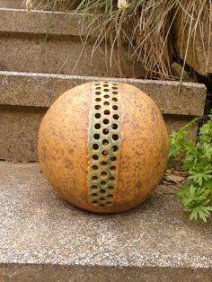 koule+do+zahrady+šamotová+hlína,+oxidy,+efektní+glazura+dvě+velikosti+-+viz+varianty