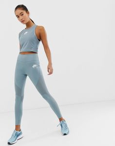 Nike Air Running Leggings In Gray - Men's style Outfits Leggins, Nike Outfits, Dance Outfits, Leggings Fashion, Sport Outfits, Nike Workout Outfits, Nike Workout Clothes, Beach Outfits, Running Leggings