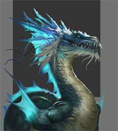 Azure ice dragon